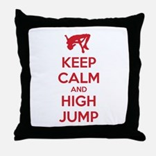 Keep calm and high jump Throw Pillow