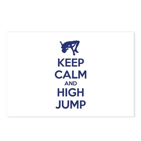 Keep calm and high jump Postcards (Package of 8)
