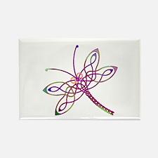 Celtic Dragonfly Rectangle Magnet