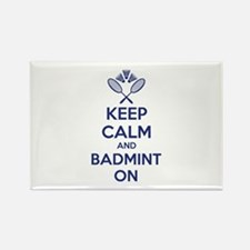 Keep calm and badmint on Rectangle Magnet (100 pac