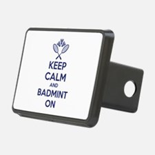 Keep calm and badmint on Hitch Cover
