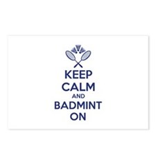 Keep calm and badmint on Postcards (Package of 8)