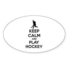 Keep calm and play hockey Decal