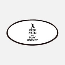 Keep calm and play hockey Patches