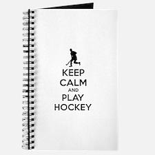 Keep calm and play hockey Journal