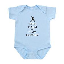 Keep calm and play hockey Onesie