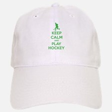 Keep calm and play hockey Baseball Baseball Cap