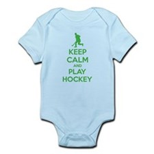 Keep calm and play hockey Infant Bodysuit