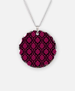 Pink and Black Decorative Necklace