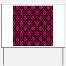 Pink and Black Decorative Yard Sign