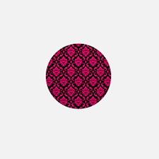 Pink and Black Decorative Mini Button