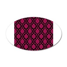 Pink and Black Decorative Wall Decal