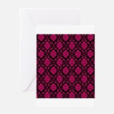 Pink and Black Decorative Greeting Card