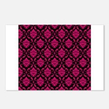 Pink and Black Decorative Postcards (Package of 8)
