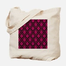 Pink and Black Decorative Tote Bag