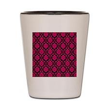 Pink and Black Decorative Shot Glass