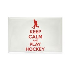 Keep calm and play hockey Rectangle Magnet