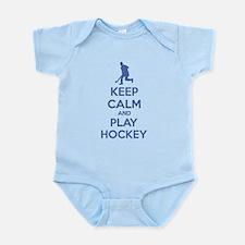 Keep calm and play hockey Infant Bodysuit