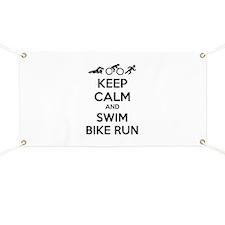 Keep calm and swim bike run Banner