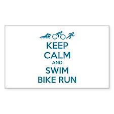 Keep calm and swim bike run Decal
