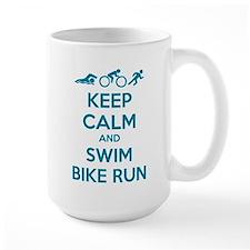 Keep calm and swim bike run Mug
