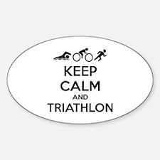 Keep calm and triathlon Decal