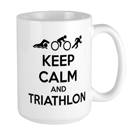 Keep calm and triathlon Large Mug