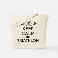 Keep calm and triathlon Tote Bag