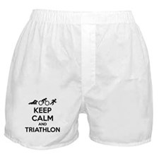 Keep calm and triathlon Boxer Shorts