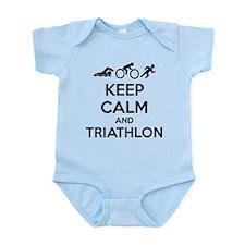 Keep calm and triathlon Infant Bodysuit