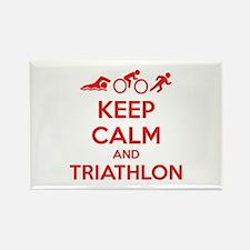 Keep calm and triathlon Rectangle Magnet