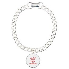 Keep calm and triathlon Bracelet