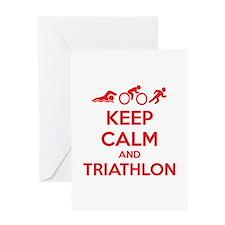 Keep calm and triathlon Greeting Card