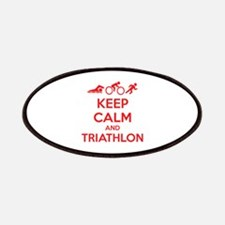 Keep calm and triathlon Patches