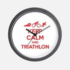Keep calm and triathlon Wall Clock