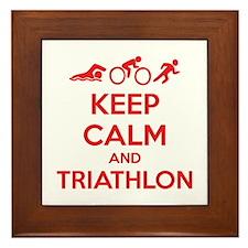 Keep calm and triathlon Framed Tile