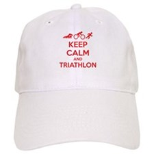 Keep calm and triathlon Baseball Cap