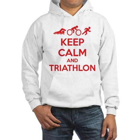 Keep calm and triathlon Hooded Sweatshirt