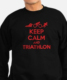 Keep calm and triathlon Sweatshirt