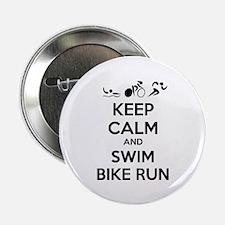 "Keep calm and triathlon 2.25"" Button (100 pack)"