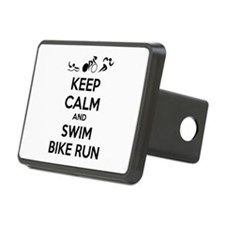 Keep calm and triathlon Hitch Cover