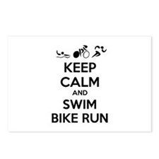 Keep calm and triathlon Postcards (Package of 8)