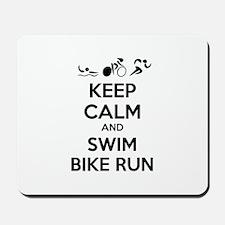 Keep calm and triathlon Mousepad