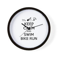 Keep calm and triathlon Wall Clock