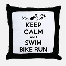 Keep calm and triathlon Throw Pillow