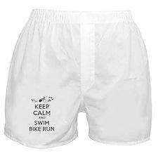 Keep calm and triathlon Boxer Shorts
