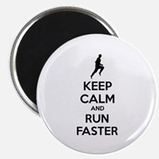 """Keep calm and run faster 2.25"""" Magnet (10 pack)"""