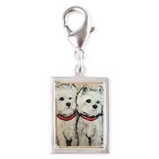 West Highland Terrier Spring Silver Portrait Charm