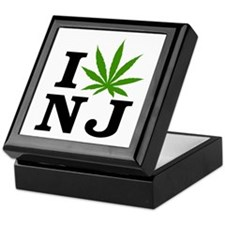 I Love Cannabis New Jersey Keepsake Box