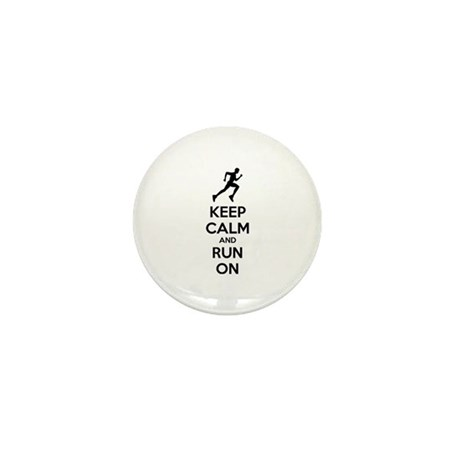 Keep calm and run on Mini Button (100 pack)